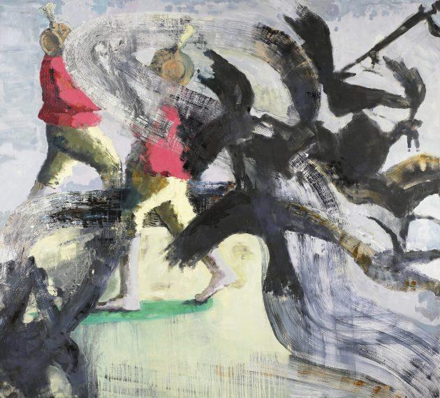 Bird War les jeux sont fait 2008 190 x 210 cm oil on canvas