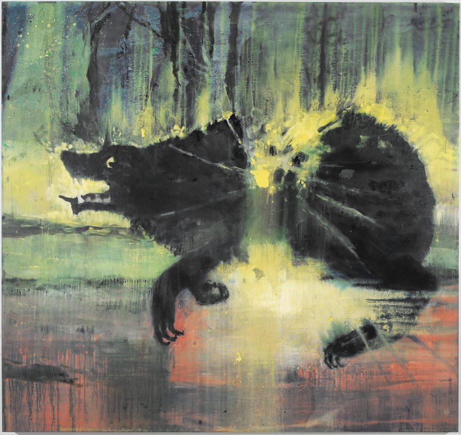 Bird Wars- Clutching at Straws-_2008_170x180cm_oil_on_canvas
