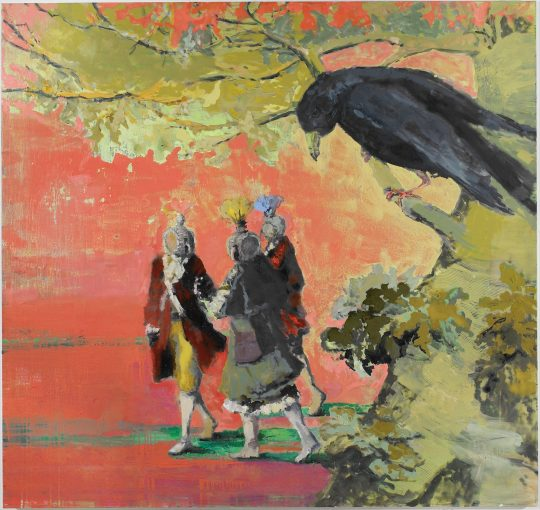 Bird Wars- Friss Vogel oder stirb 170x180cm_oil on canvas