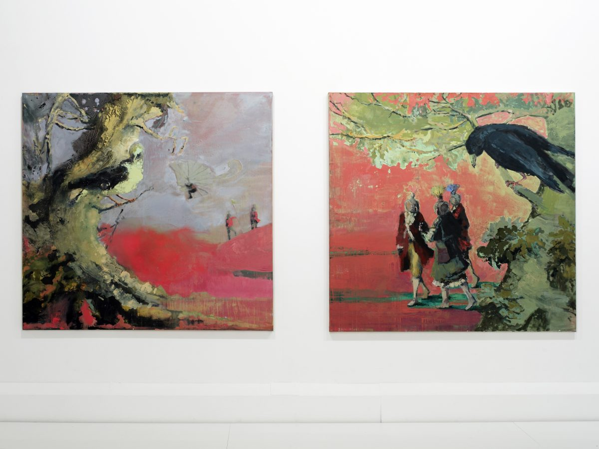 Keeping Bad Company Diptych 2 pieces each 179 x 180 cm _ oil on canvas