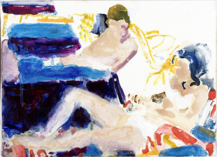 -Morley's Deckchairs_2015_21x 29cm_oil_on_canvas