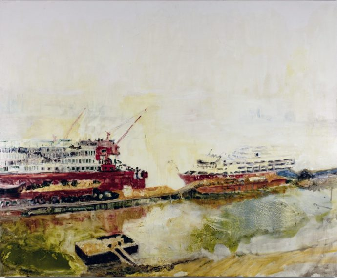 Docklands_oil on poplar-panel stetched with canvas_190x230cm-2020