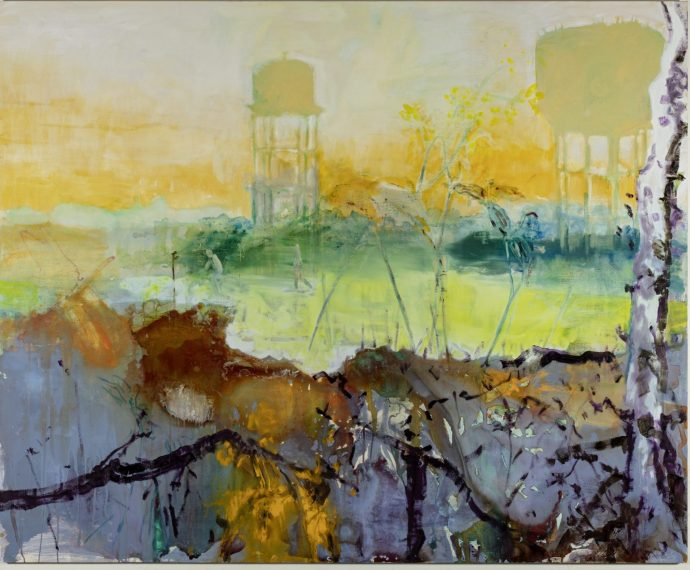 Dragonfly_oil and gouacheon poplar-panel stetched with canvas_190x230cm-2020